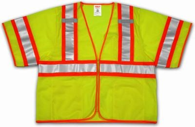 Class 3 High Visibility Two-Tone Vests Lime Small/Medium