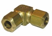 "1/4"" Brass Compression Elbow"