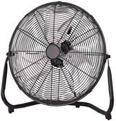 "20"" High Velocity Floor Fan, Black"