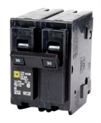 Square D Homeline HOM230CP Miniature Circuit Breaker, 120/240 V, Fixed Trip, Plug-In Mounting