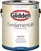 Grab-N-Go™ Glidden Fundamentals Semi-Gloss White Interior Paint, 1 Gallon