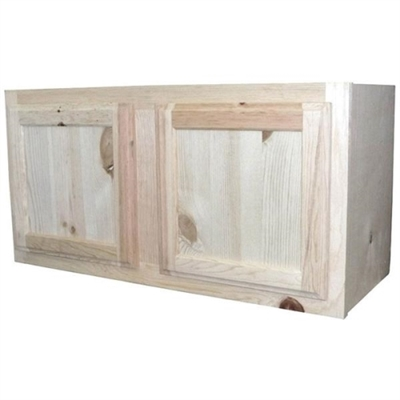 "shop 30"" x 15"" unfinished pine wall cabinet at mccoy's"