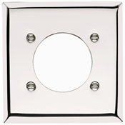 Chrome 1 Round Hole 2 Gang Plate