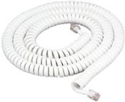 25', White, Coiled Modular Handset Cord