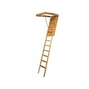 "22-1/2"" x 54"" to 8'9"" 250# Short Wooden Attic Ladder"