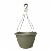 """12"""" Olive Green, Weave Hanging Basket"""