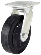 "6"" Mold On Rubber Wheel Swivel Plate Caster"