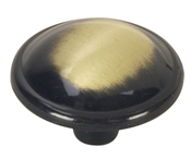 "1-1/4"" Round Cabinet Knob - Antique Brass"