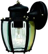 1 Light Textured Black Lantern Outdoor Wall Fixture