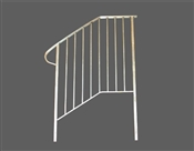 Aluminum handrail for 4 step or 3 steps with stoop