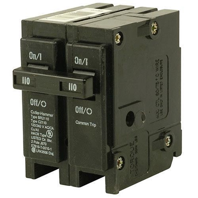 100 Amp 2-Pole Type BR Circuit Breaker BR2100