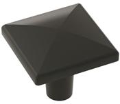 1-1/8 in (29 mm) Length Knob - Matte Black