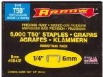 "T-50 1/4"" Staples, 5,000 Pack"
