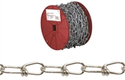 Campbell 0724627 Double Loop Chain, 4/0, 100 Ft L, 365 Lb, Low Carbon Steel
