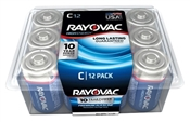 Rayovac 814-12PPK C Batteries, Recloseable Container, 12 Pack