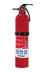 Fire Extinguisher, Red, 2.5 lb Capacity, 1-A:10-B:C Fire Class