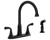 2 Handle High-Arc Kitchen Faucet w/ Side Spray