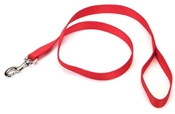 "1"" x 6' Red Nylon Leash"