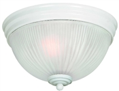 2 Light White Dome Indoor Ceiling Fixture