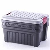 Storage Container 24 Gallon Black/Gray