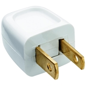 White 10 Amp 125 Volt Quick Attach Plug