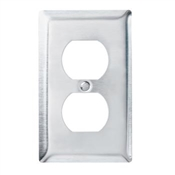 Duplex Receptacle Openings, One Gang, 302/304 Stainless Steel