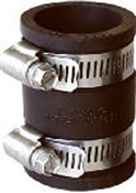 """Rubber Pipe Connector, 1 1/4"""" x 1 1/4"""""""