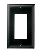 Wall Plate, 1-Gang, Nylon, Black
