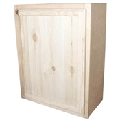 "24"" x 30"" Unfinished Pine Wall Cabinet"