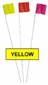 Stake Flags Yellow