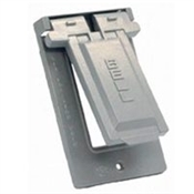 GFCI Vertical Mount Cover - Gray