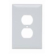 White Nylon 1 Gang Oversize Receptacle Plate