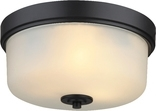 Lexington 2 Light Flush Ceiling Fixture, Oil Rubbed Bronze