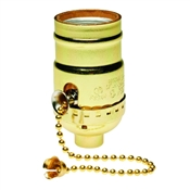 660 Watt Pull Chain Lamp Socket Brass