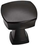 1-1/4 in (32 mm) Length Knob - Matte Black