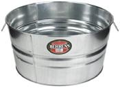 Round Galvanized Steel Tub - 10.5 Gallon