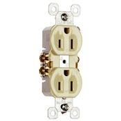 Ivory 15 Amp 125 Volt Duplex Receptacle 10 Pack