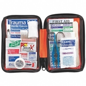107 piece First Aid Kit for home, auto and outdoor activities