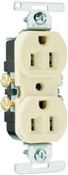 Ivory 15 Amp 125 Volt Duplex Receptacle