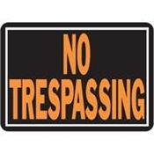 No Trespassing Aluminium Sign