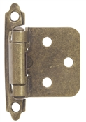 Self-Closing Flush/Overlay Cabinet Hinge Contractor Pack - Antique Brass