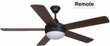 "Riverchase 52"" Ceiling Fan, Dual Mount, W/ Light Kit And Remote Control, Oil Rubbed Bronze"