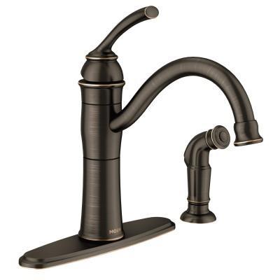 Shop Braemore Single Handle High Arc Kitchen Faucet Mediterranean Bronze At Mccoy S