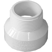 "1-1/2""x1-1/4"" PVC-DWV Male Adapter (HubxMIP)"