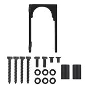 National Hardware Sliding Door Bypass Bracket Matte Black