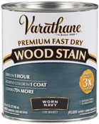 Premium Fast Dry Wood Stain, Worn Navy, 1 Quart