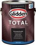 Glidden Total Exterior Semi-Gloss Base Paint+ Primer, White, 1 Gallon