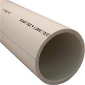 "3""x20' Schedule 40 PVC/DWV Bell End Pipe"