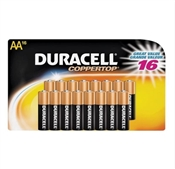 Duracell Alkaline Battery, AA, Manganese Dioxide, 1.5 V