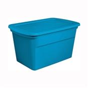 Sterilite 17364306 Tote Box, 30 gal Capacity, Plastic, Blue